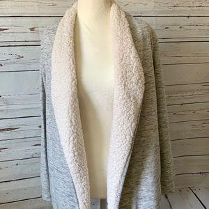 St Johns Bay Active Wear Gray Fleece Line Cardigan